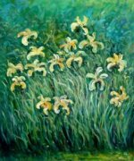 Yellow Irises - Claude Monet Oil Painting