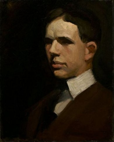 Self Portrait of Edward Hopper - Edward Hopper Oil Painting