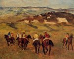 Racehorses II - Edgar Degas Oil Painting