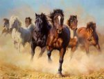 A Drove of Horses - Oil Painting Reproduction On Canvas