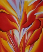Red Canna - Georgia O'Keeffe Oil Painting
