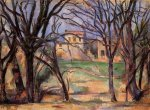 Trees and Houses - Paul Cezanne Oil Painting