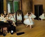 The Dancing Class - Edgar Degas Oil Painting