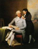 Jeremiah Wadsworth and His Son Daniel Wadsworth - John Trumbull Oil Painting