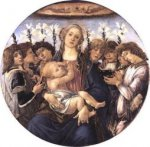 Madonna and Child with Eight Angels - Sandro Botticelli oil painting