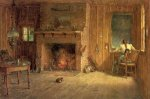 The Club House Sitting Room at Balsam Lake, Catskills - Thomas Worthington Whittredge Oil Painting