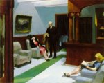 Hotel Lobby - Edward Hopper Oil Painting