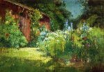 Selma's Garden - Theodore Clement Steele Oil Painting