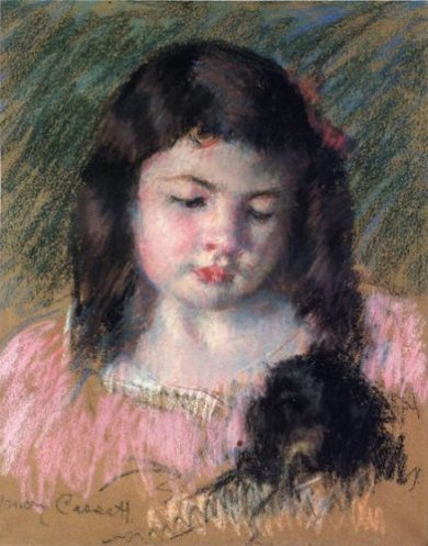Bust of Francoise Looking Down - Mary Cassatt Oil Painting