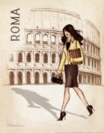 Fair Lady Walking on the Road of Rome - Oil Painting Reproduction On Canvas
