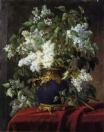 White Lilacs - Jean Capeinick Oil Painting