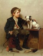 My Best Friend - John George Brown Oil Painting