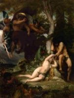 Paradise Lost - Alexandre Cabanel Oil Painting