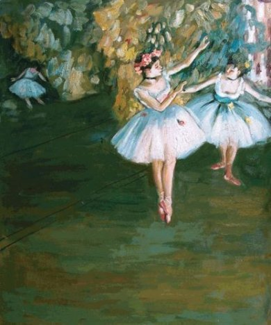 Two Dancers on Stage III - Edgar Degas Oil Painting
