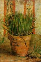 Flowerpot with Chives - Vincent Van Gogh Oil Painting