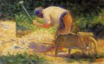 Stone Breaker and Wheelbarrow, Le Raincy - Georges Seurat Oil Painting