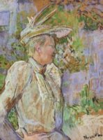 Gabrielle the Dancer - Henri De Toulouse-Lautrec Oil Painting