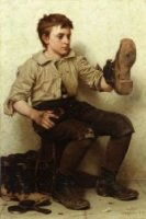 Jersey Mud - John George Brown Oil Painting