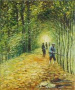 The Shoot (The Avenue in The Park, Montgeron) - Claude Monet Oil Painting