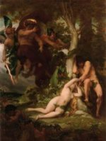 The Expulsion of Adam and Eve from the Garden of Paradise - Alexandre Cabanel Oil Painting,