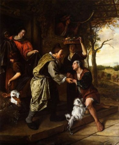 The Return of the Prodigal Son - Jan Steen oil painting