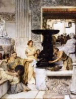 The Sculpture Gallery - Sir Lawrence Alma-Tadema Oil Painting