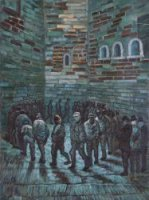 The Prison Exercise Yard - Vincent Van Gogh Oil Painting