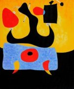 Femme Assise - Joan Miro Oil Painting