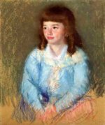 Young Boy in Blue - Mary Cassatt Oil Painting