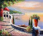 Gazebo Point - Oil Painting Reproduction On Canvas