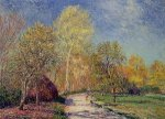 A May Morning in Moret - Alfred Sisley Oil Painting