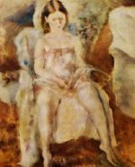 Seated Young Girl III - Jules Pascin Oil Painting