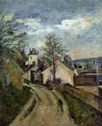 The House of Dr. Gached in Auvers - Paul Cezanne Oil Painting