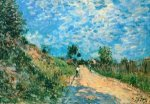Hill Path - Alfred Sisley Oil Painting