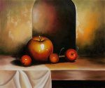 Apples On A Sideboard - Oil Painting Reproduction On Canvas