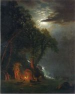 Campfire Site, Yosemite - Albert Bierstadt Oil Painting