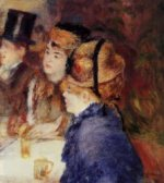 At the Cafe II - Pierre Auguste Renoir Oil Painting
