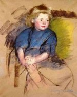 Portrait of a Young Girl (Simone) - Mary Cassatt Oil Painting