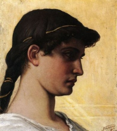Head of a Roman Maiden - Oil Painting Reproduction On Canvas