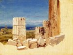 Broken Columns, View from the Parthenon, Athens - Frederic Edwin Church Oil Painting