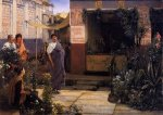 The Flower Market - Sir Lawrence Alma-Tadema Oil Painting