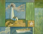 Lighthouse 2 - Oil Painting Reproduction On Canvas
