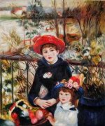 Two Sisters (On the Terrace), 1881 by Pierre Auguste Renoir.