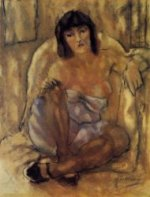Seated Woman II - Oil Painting Reproduction On Canvas