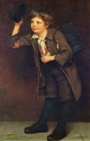 Shine, Mister? - John George Brown Oil Painting
