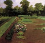 New Hamburg Garden - James Carroll Beckwith Oil Painting