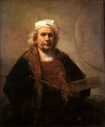 Self Portrait 10 - Rembrandt van Rijn Oil Painting