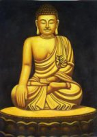 Buddhist Statue 3 - Oil Painting Reproduction On Canvas