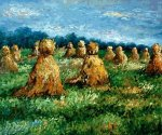 The Haysheaves - Claude Monet Oil Painting