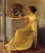 Bessie Potter Vonnoh at Her Dressing Table - Oil Painting Reproduction On Canvas